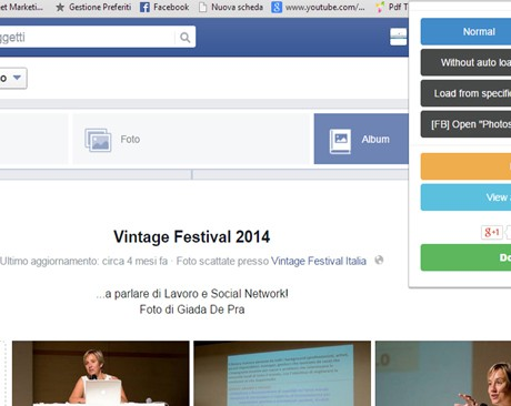 Come salvare un album di foto da Facebook