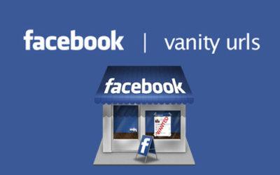 Cambiare l'URL alla pagina aziendale di Facebook: il vanity URL