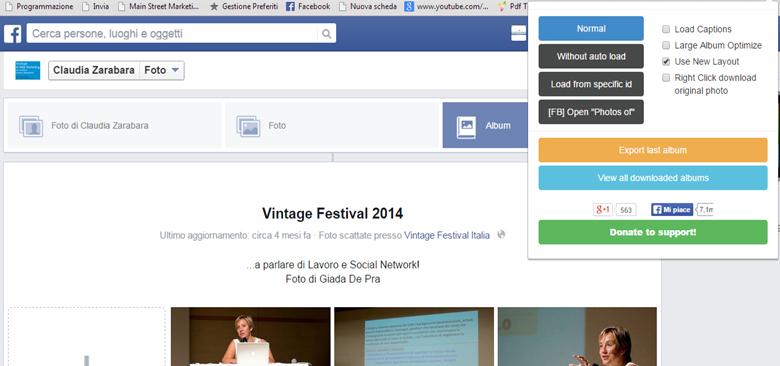 Come fare il backup degli album di foto su Facebook?